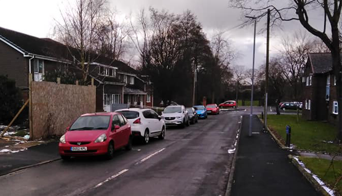 Street of houses in Langley